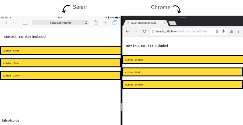 Demo with shrink-to-fit viewport value