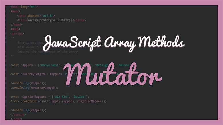 JavaScript Array Methods - Mutator
