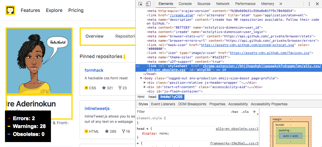 Making Alix, a Chrome Extension for Linting HTML